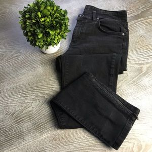 ESCADA Black Skinny Jeans Zipper Ankle Size 6
